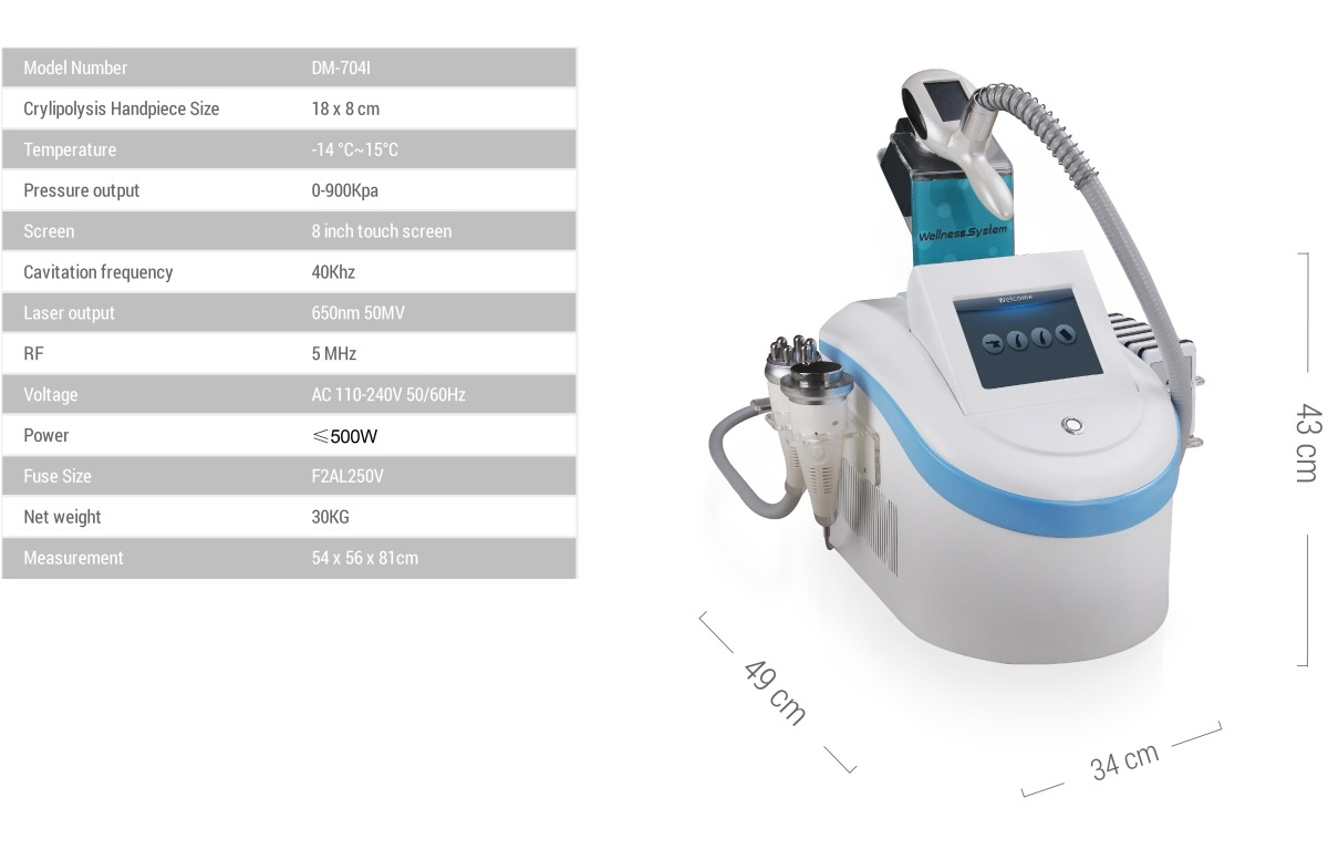 CryoSculpt ET • Specification